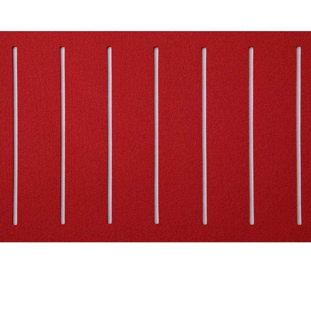 Hey Sign Teppich zweimal quer geschlitzt - Farbe 11 Rot - Detailansicht