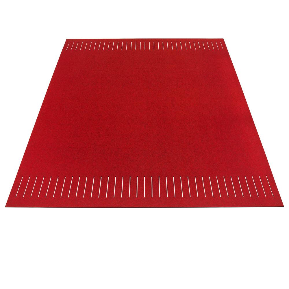 Hey Sign Teppich zweimal quer geschlitzt - Farbe 72 Flamenco