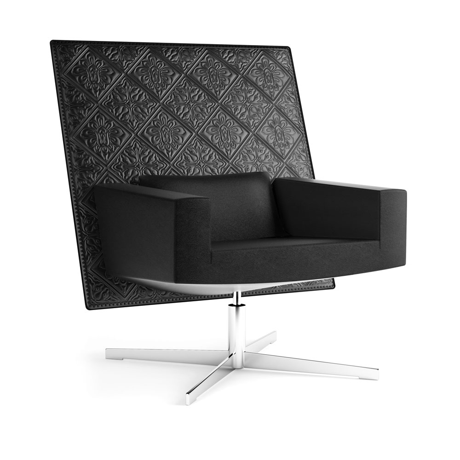 Jackson Chair - Leder mit Stickerei