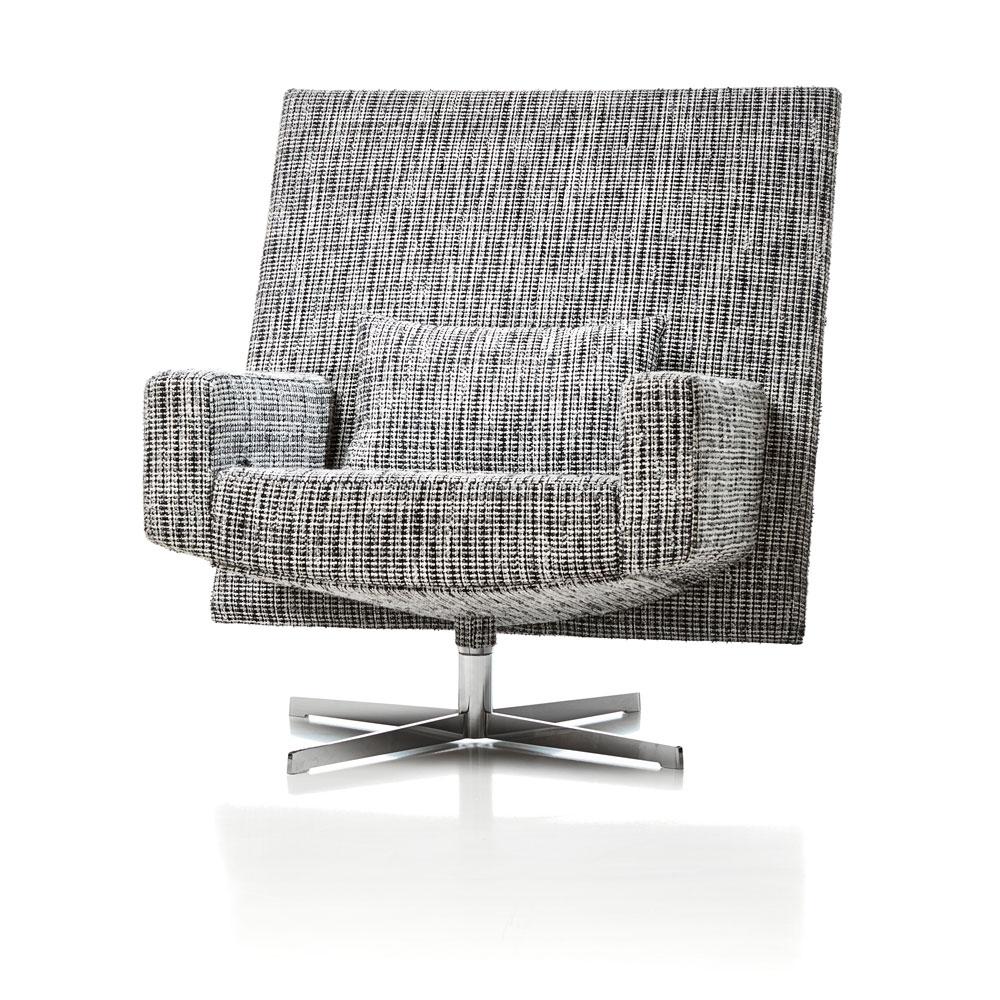 Jackson Chair - Bouclé schwarz/ weiß