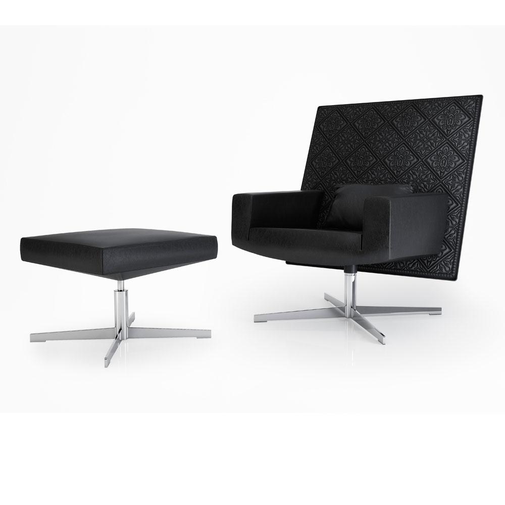 Jackson Chair - Ausführung Leder - mit Fußhocker
