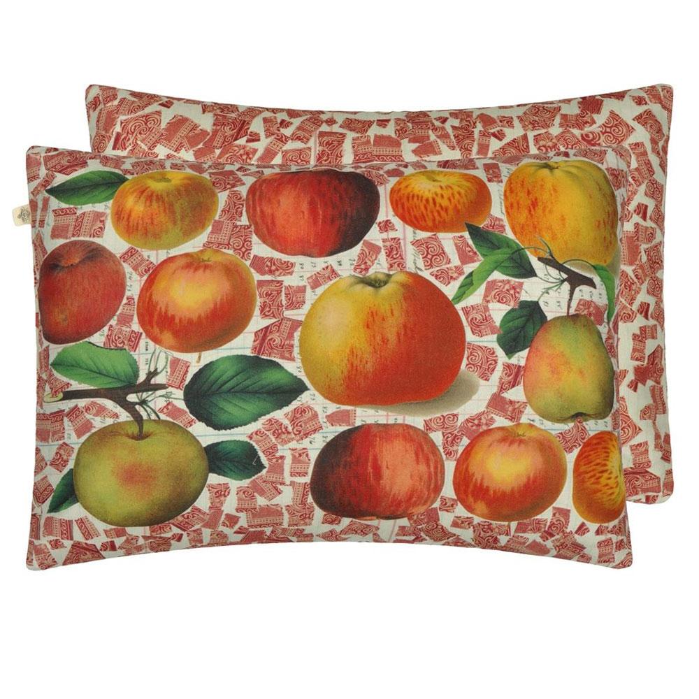 John Derian Kissen - Apples Carmine