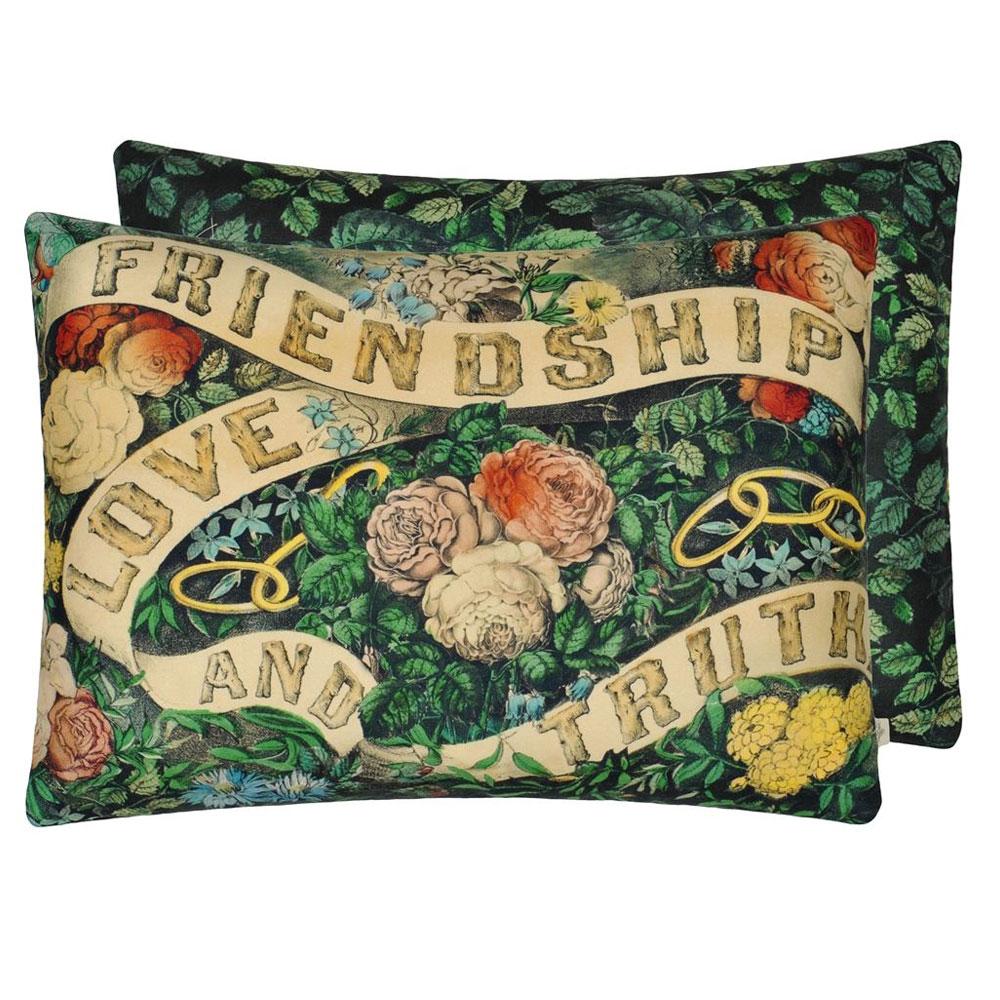 John Derian Kissen - Friendship Forest