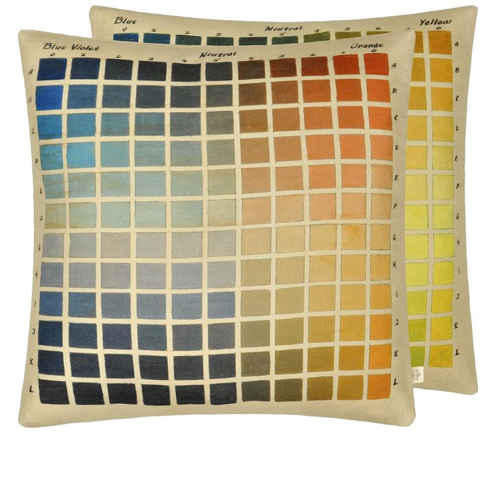John Derian Kissen - Paint Charts Azure