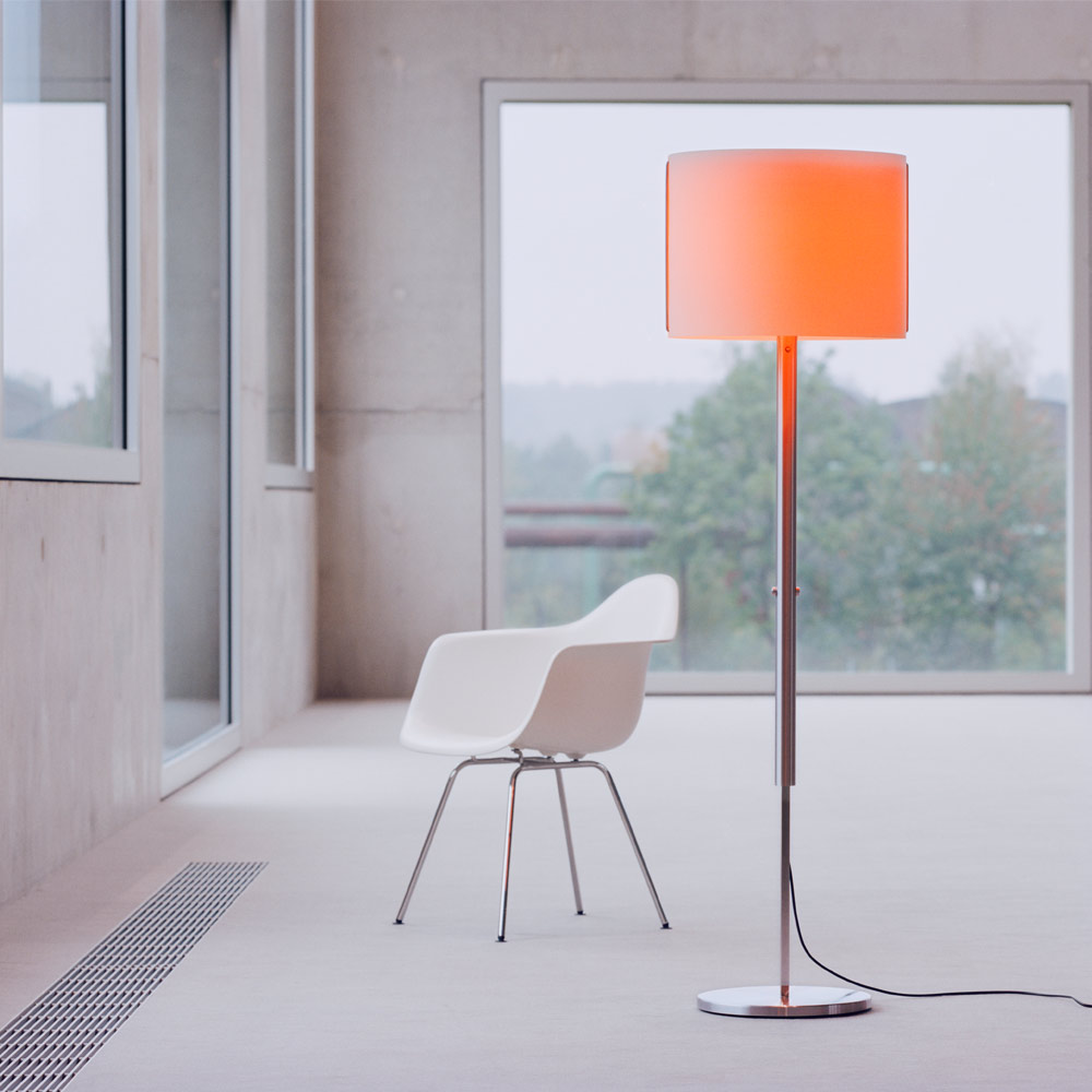 Jones Floor L - mit Glaseinsatz orange