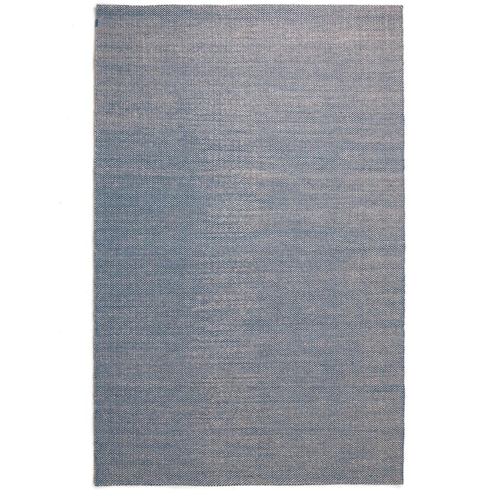 Teppich Nordic Drop - Farbe nature & denim blue