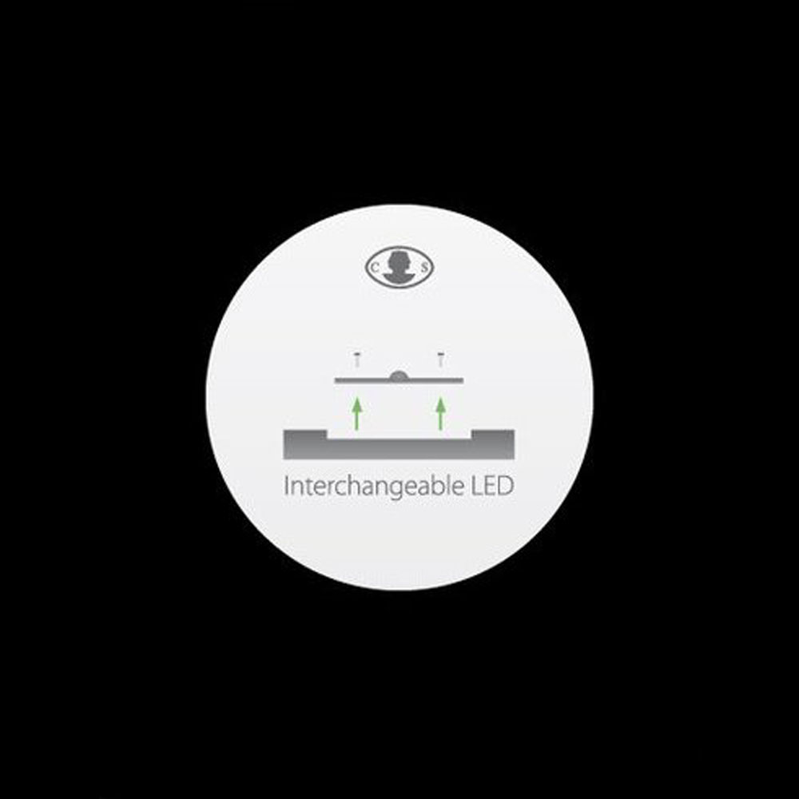 Stehleuchte WA WA F besitzt austauschbare LEDs