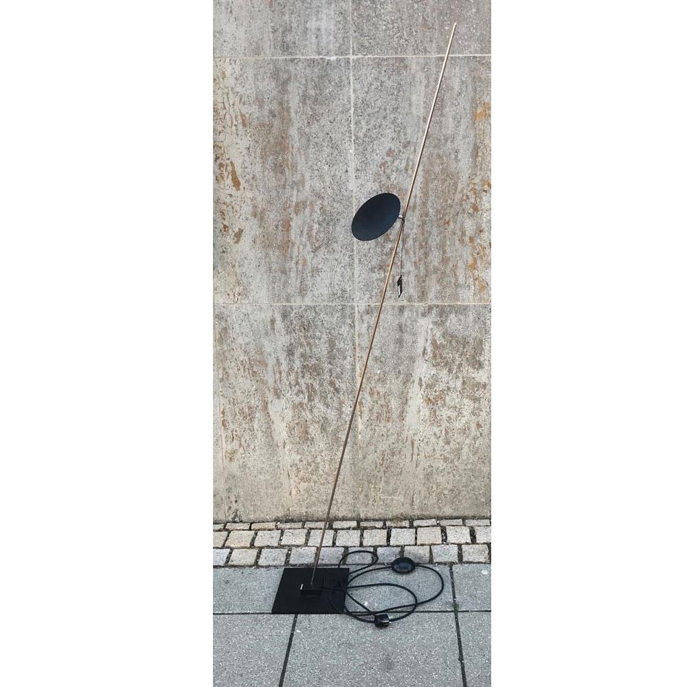 Lederam F1 - Scheibe schwarz/ Stange Kupfer