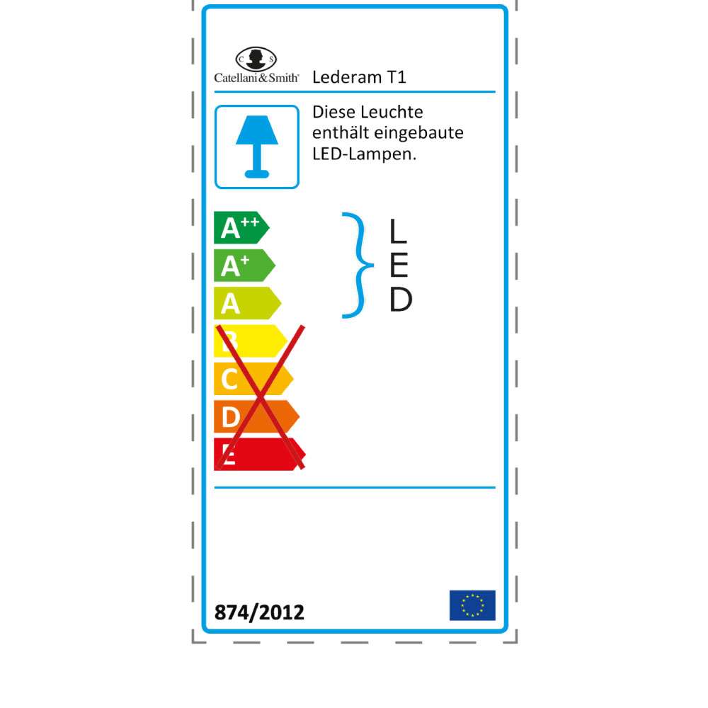 Lederam T1 - EU Label