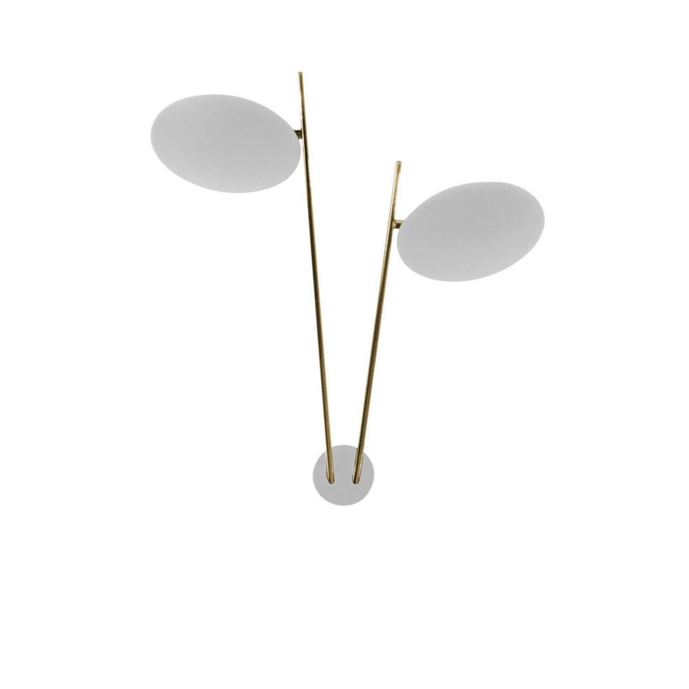 Lederam W2 - Scheiben weiß/ Stangen gold