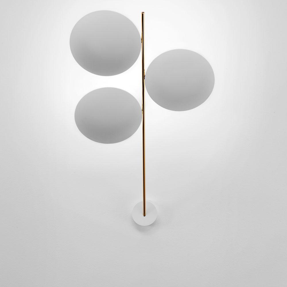 Lederam W3 - Scheiben weiß/ Stange gold