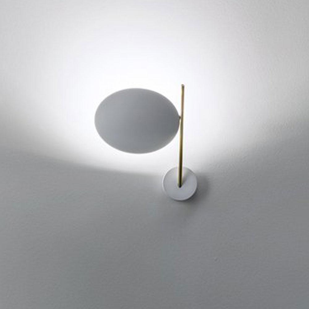 Lederam WB1 - Scheibe weiß/ Stange gold