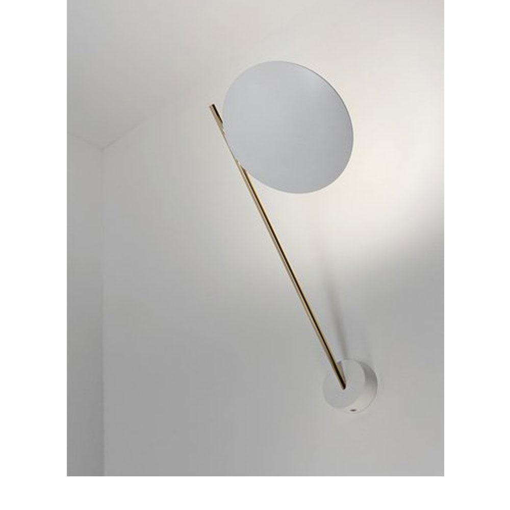 Lederam WP1 - Scheibe weiß/ Stange gold