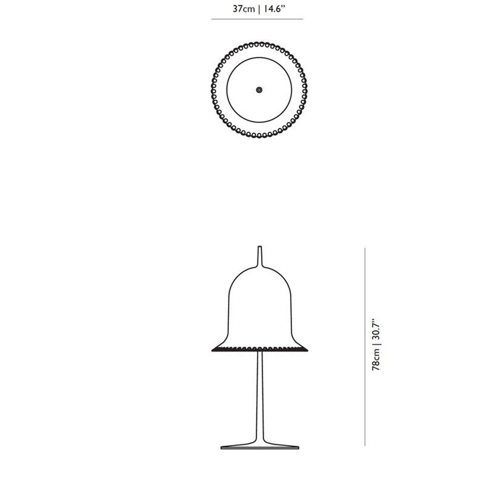 Lolita Table Lamp - Maße