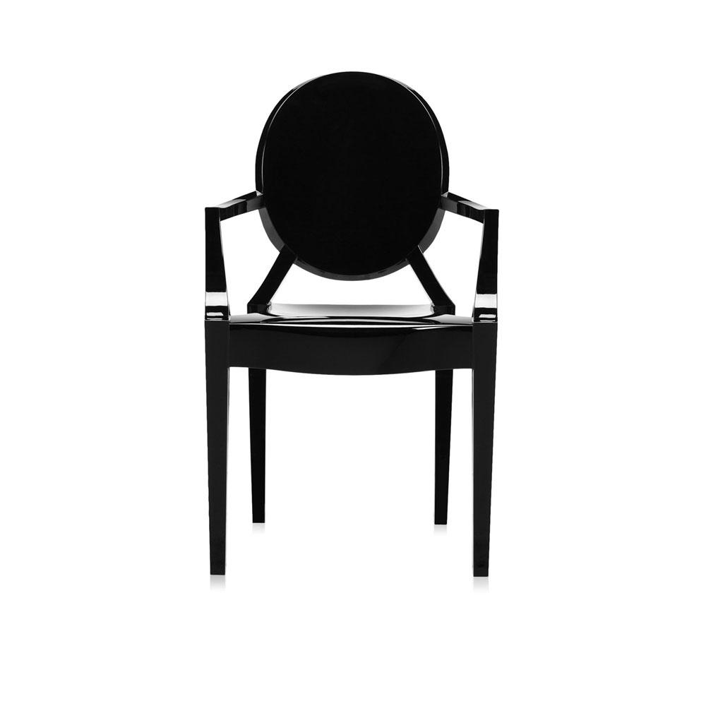 Louis Ghost - schwarz glänzend - Vorderseite