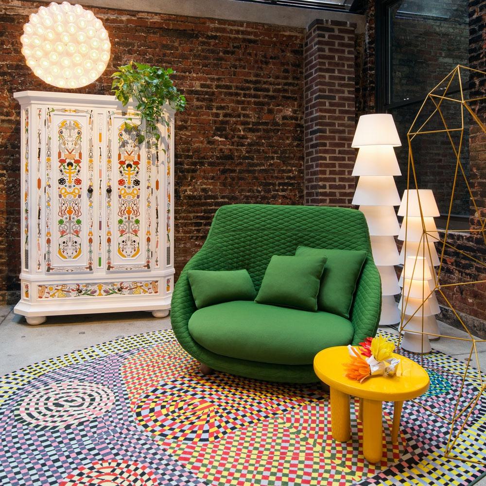 Love Sofa High Back - Summit Uni/ Twill - Farbe Grass