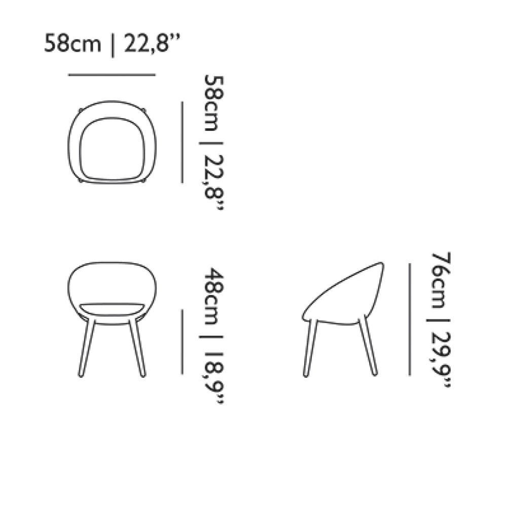 Love Dining Chair - Maße