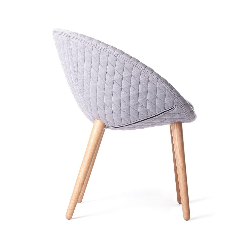 Love Dining Chair - Bezug Summit Uni/ Grey - Seitenansicht