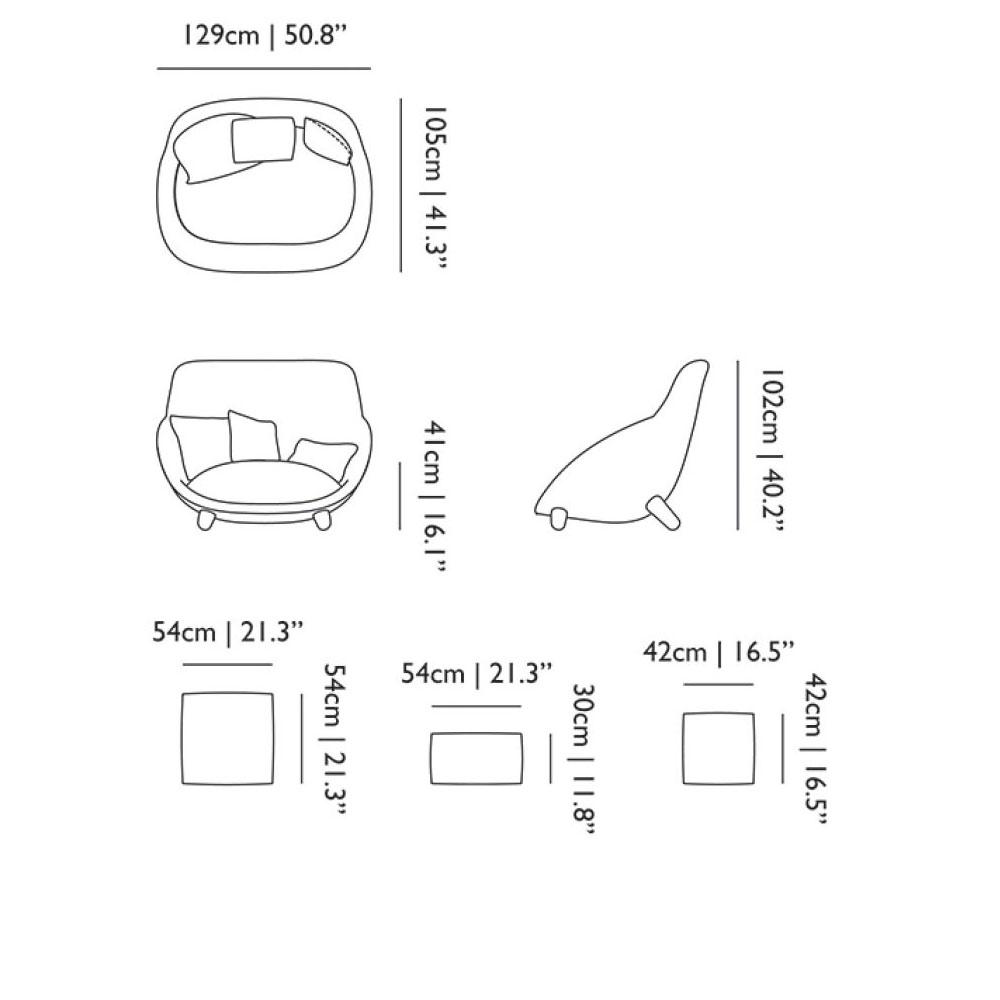 Love Sofa High Back - Maße
