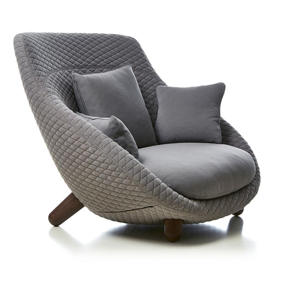 Love Sofa High Back - Bezug Summit Uni/ Twill - Farbe Grey - Seitenansicht