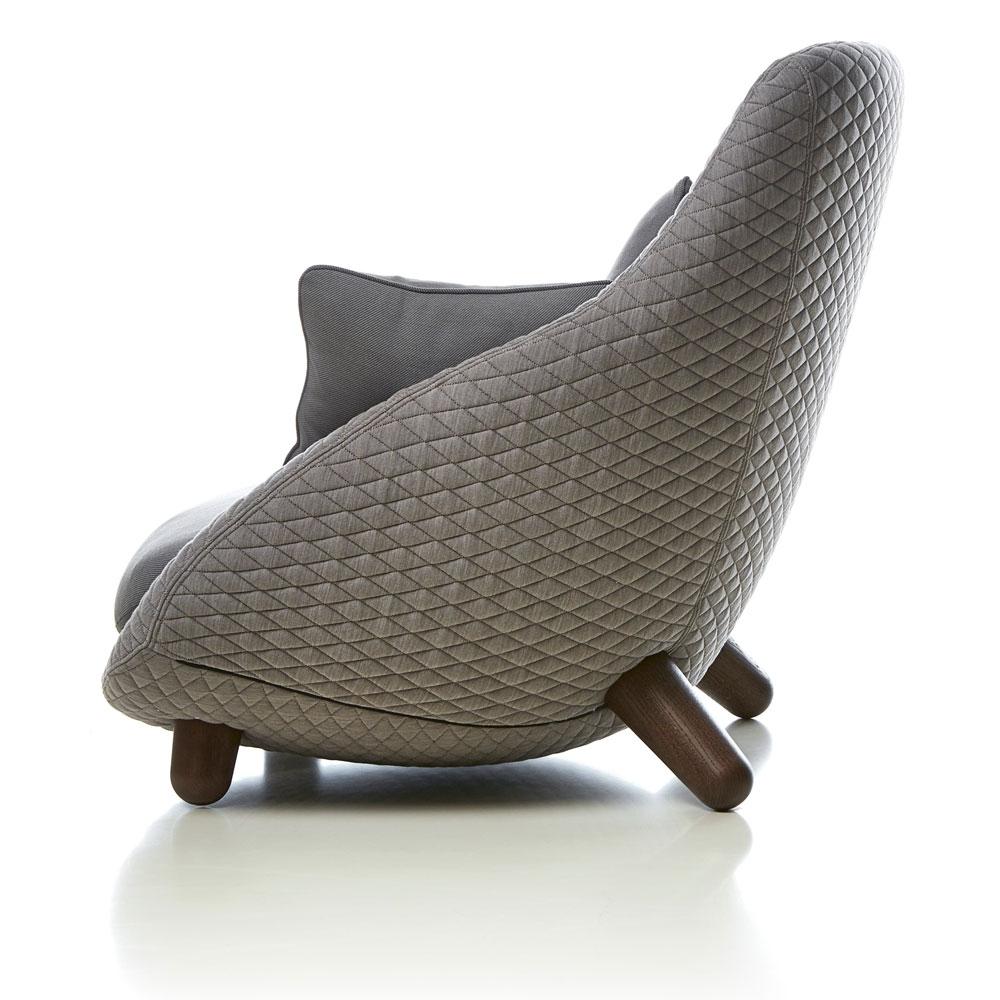 Love Sofa High Back - Bezug Summit Uni/ Twill - Farbe Grey - Rückenansicht
