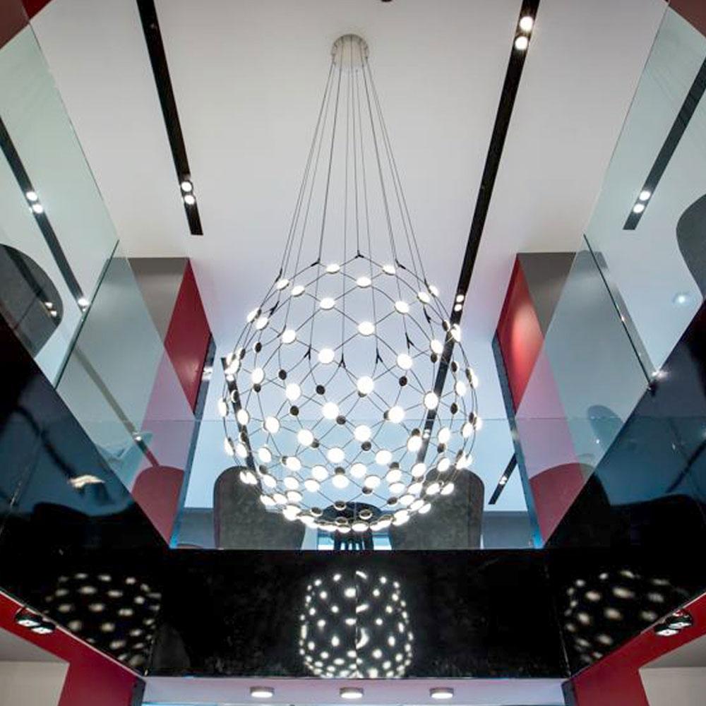 Luceplan - Mesh Ø 100 cm - als Galerie Beleuchtung