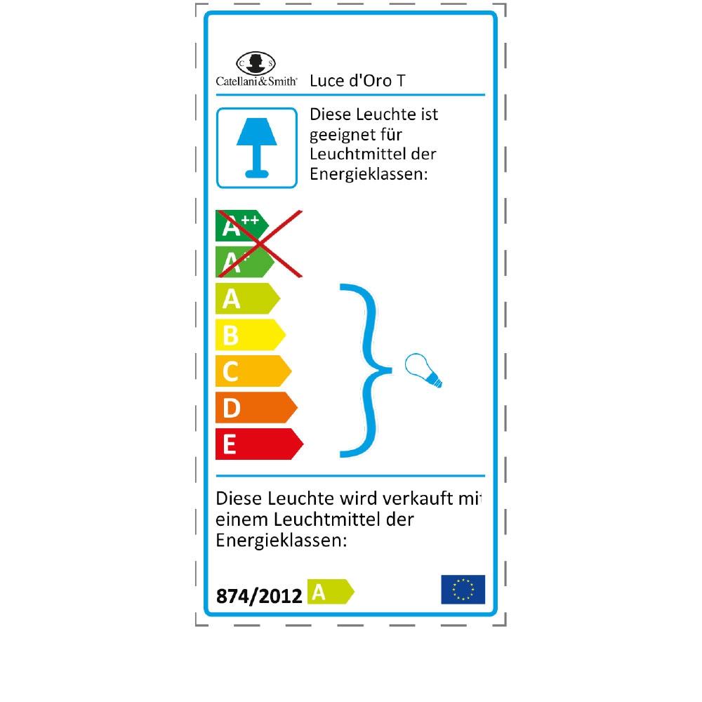 Tischleuchte Luce d'Oro T - EU Label