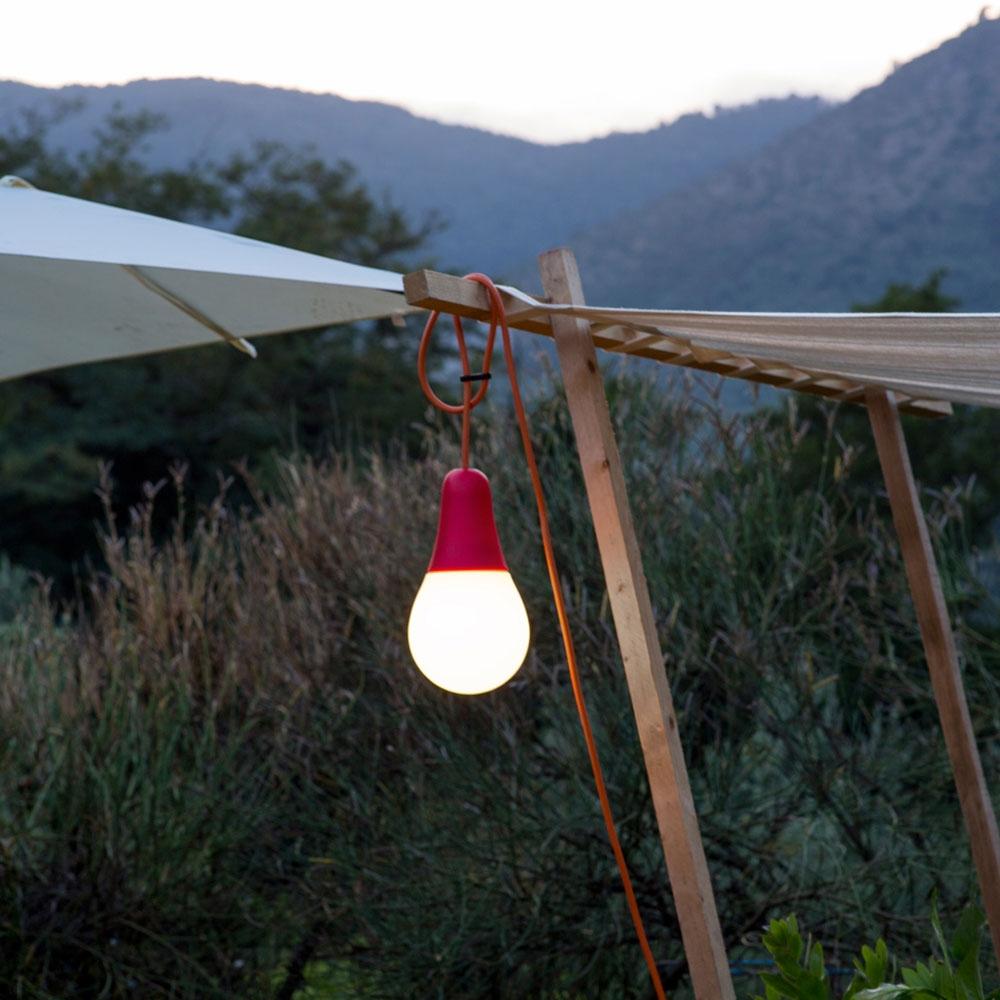Martinelli Luce - Outdoor-  Leuchte Ciulifruli - Farbe weiß/ rot