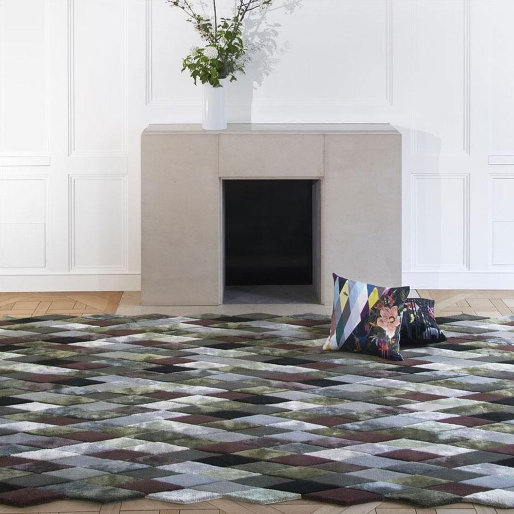 Teppich Mascarade - Farbe Graphite - im Wohnzimmer