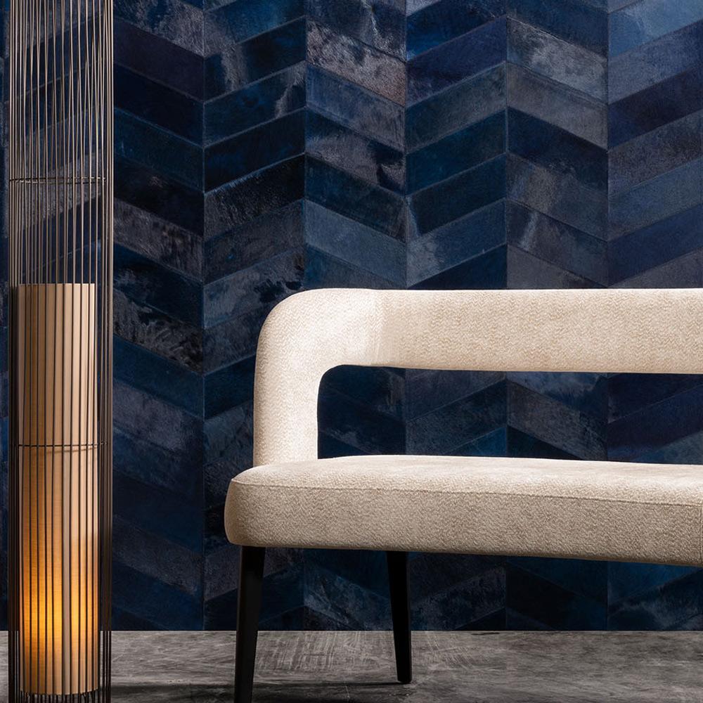 Arte - Naturwandbekleidung Montage - Farbe 33525 Indigo - Raumansicht