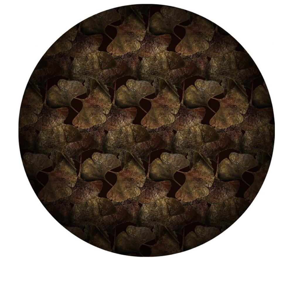 Moooi Carpets - Ginko Leaf rund - Farbe Rust