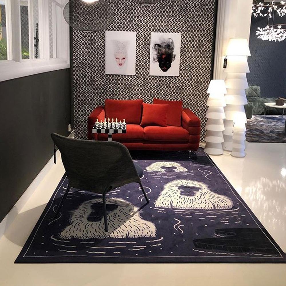 Moooi Carpets - Teppich Indigo Macaque blue