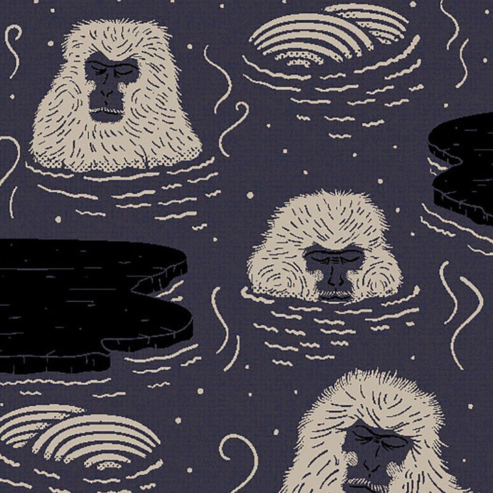 Moooi Carpets - Teppich Indigo Macaque blue - Detailansicht