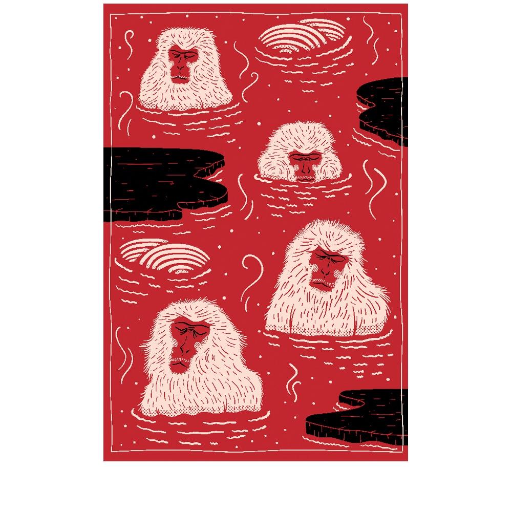 Moooi Carpets - Teppich Indigo Macaque red