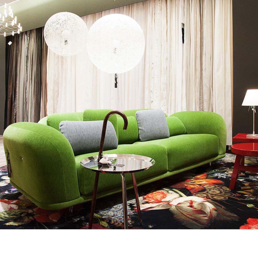 Cloud Sofa - Bezugsstoff Velour Moss