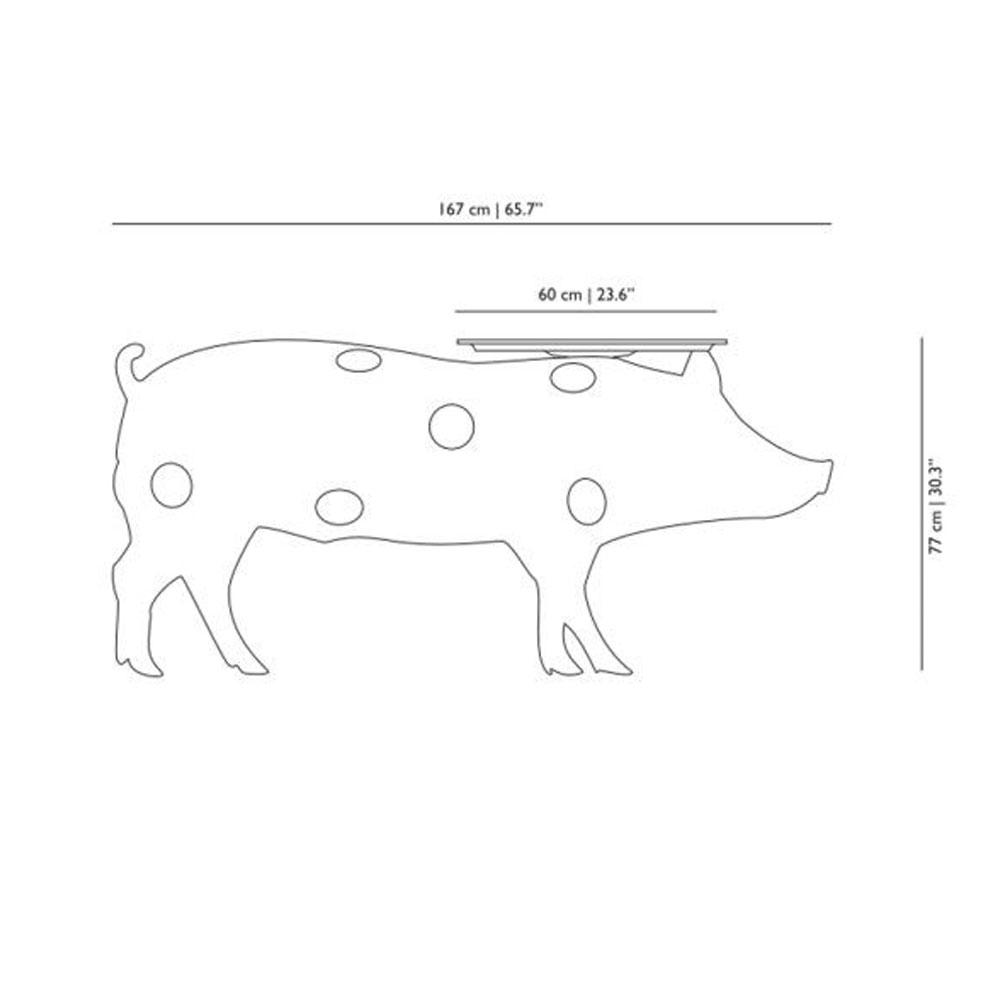 Pig Table - Maße in cm