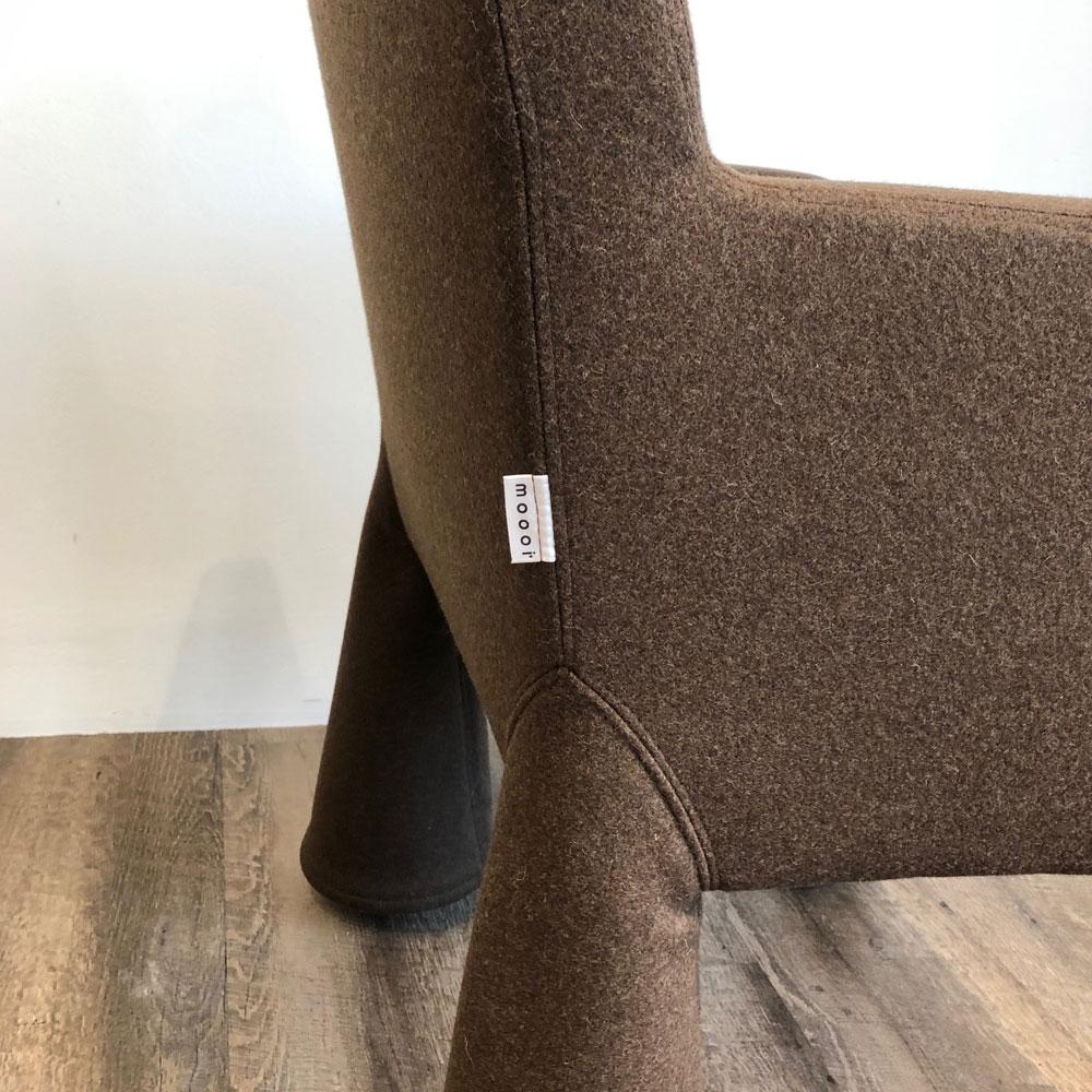 Moooi V.I.P. Chair - Divina Melange 280 - Detailansicht