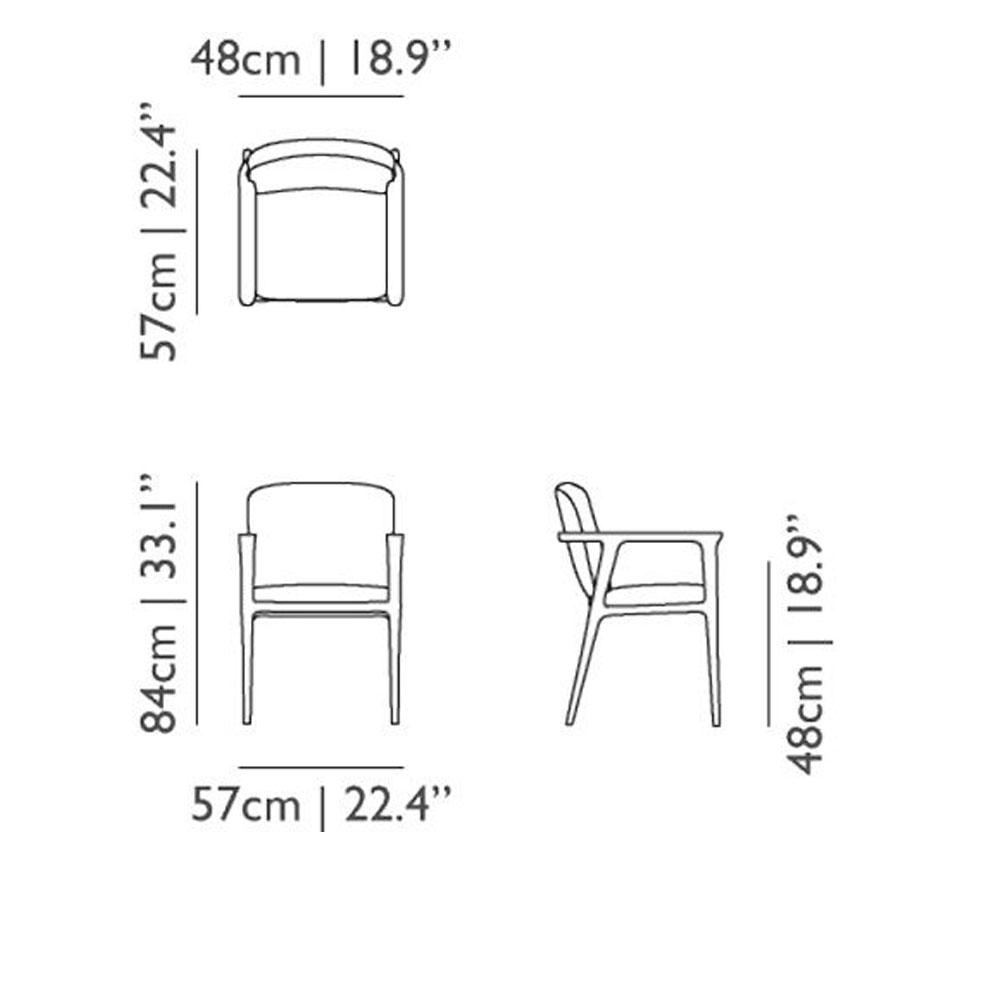 Moooi Zio Dining Chair - Abmessungen
