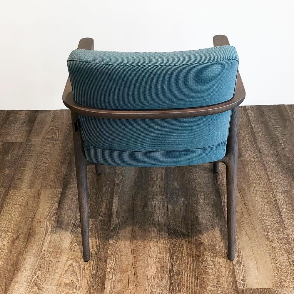 Moooi Zio Dining Chair - Farbe Lagoon - Rückenansicht