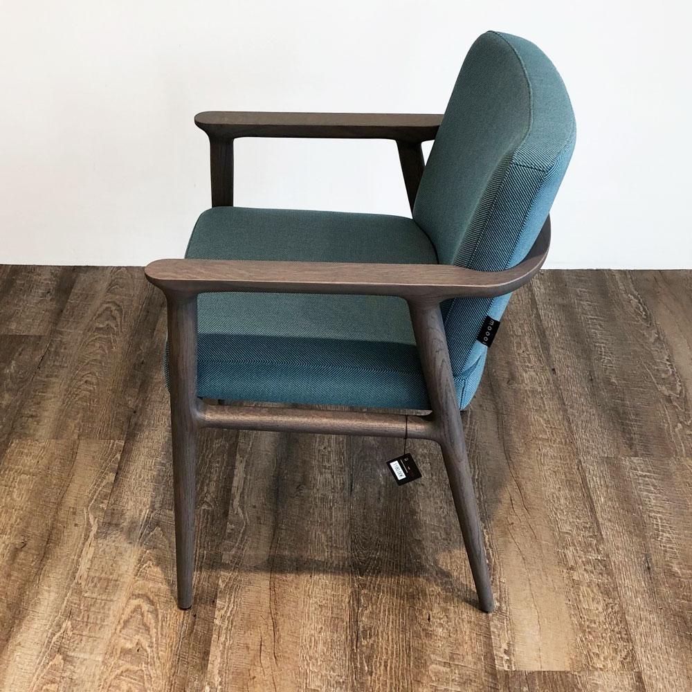 Moooi Zio Dining Chair - Farbe Lagoon - Seitenansicht