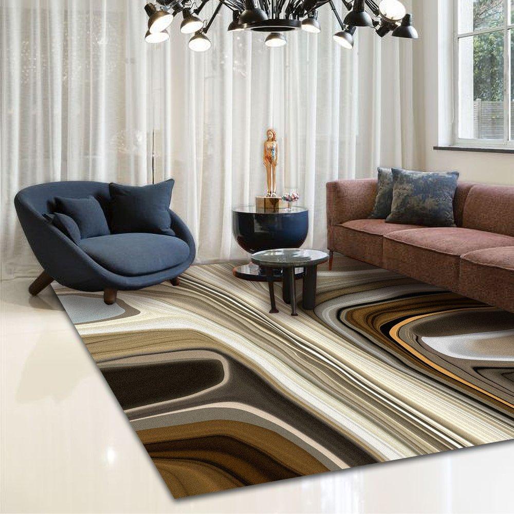 Moooi Carpets - Liquid Layers Marl - Rechteckig Raumansicht