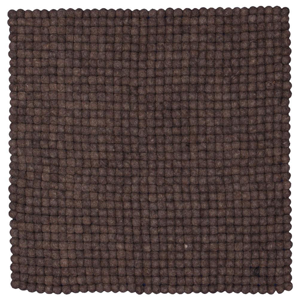 Teppich quadratisch 120x120  Filzkugelteppich Filzkugelteppich Naturlinie - quadratisch ...
