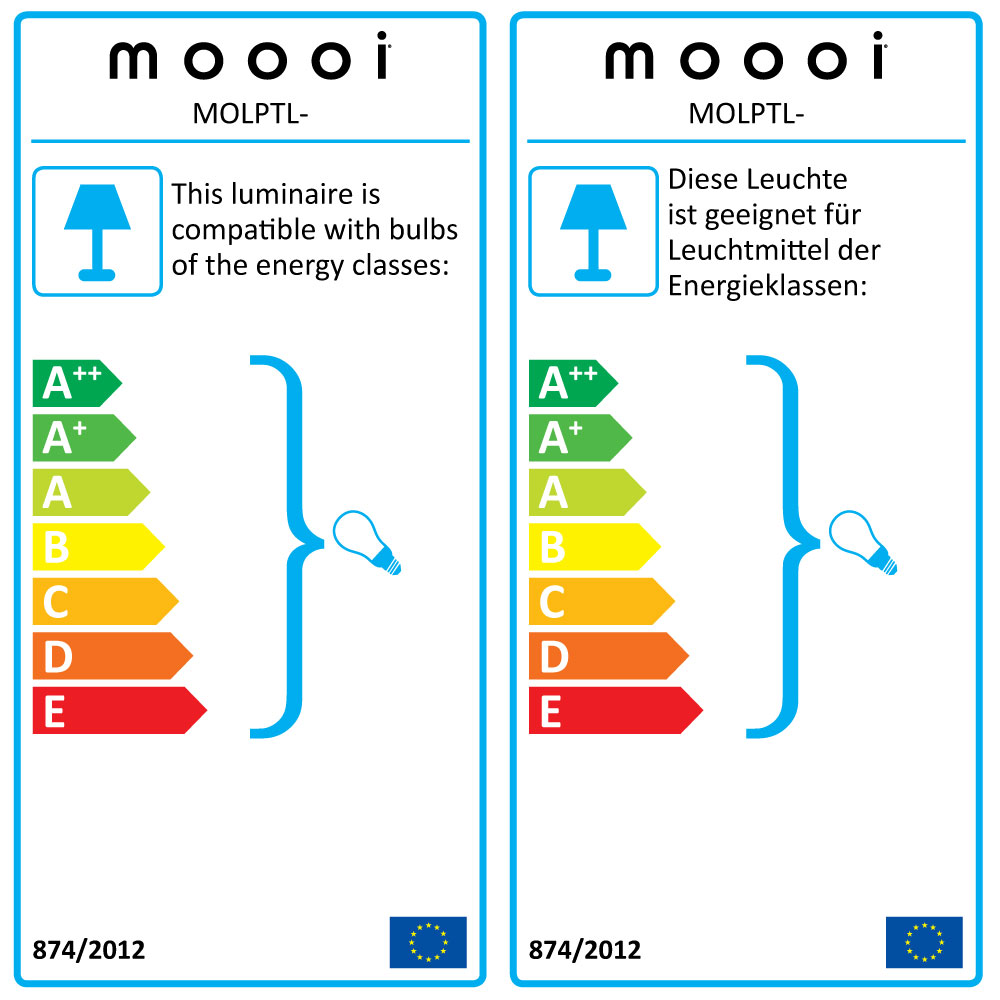 Paper Table Lamp - EU Label