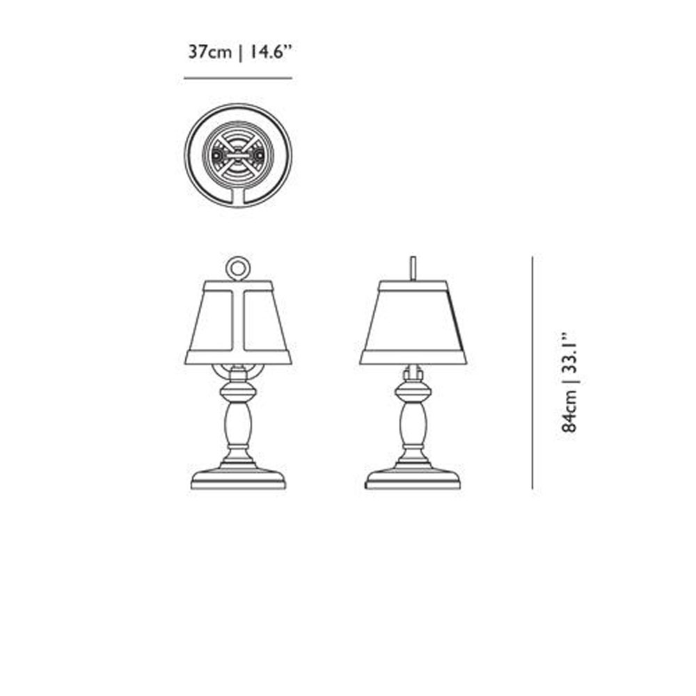Paper Table Lamp - Maße