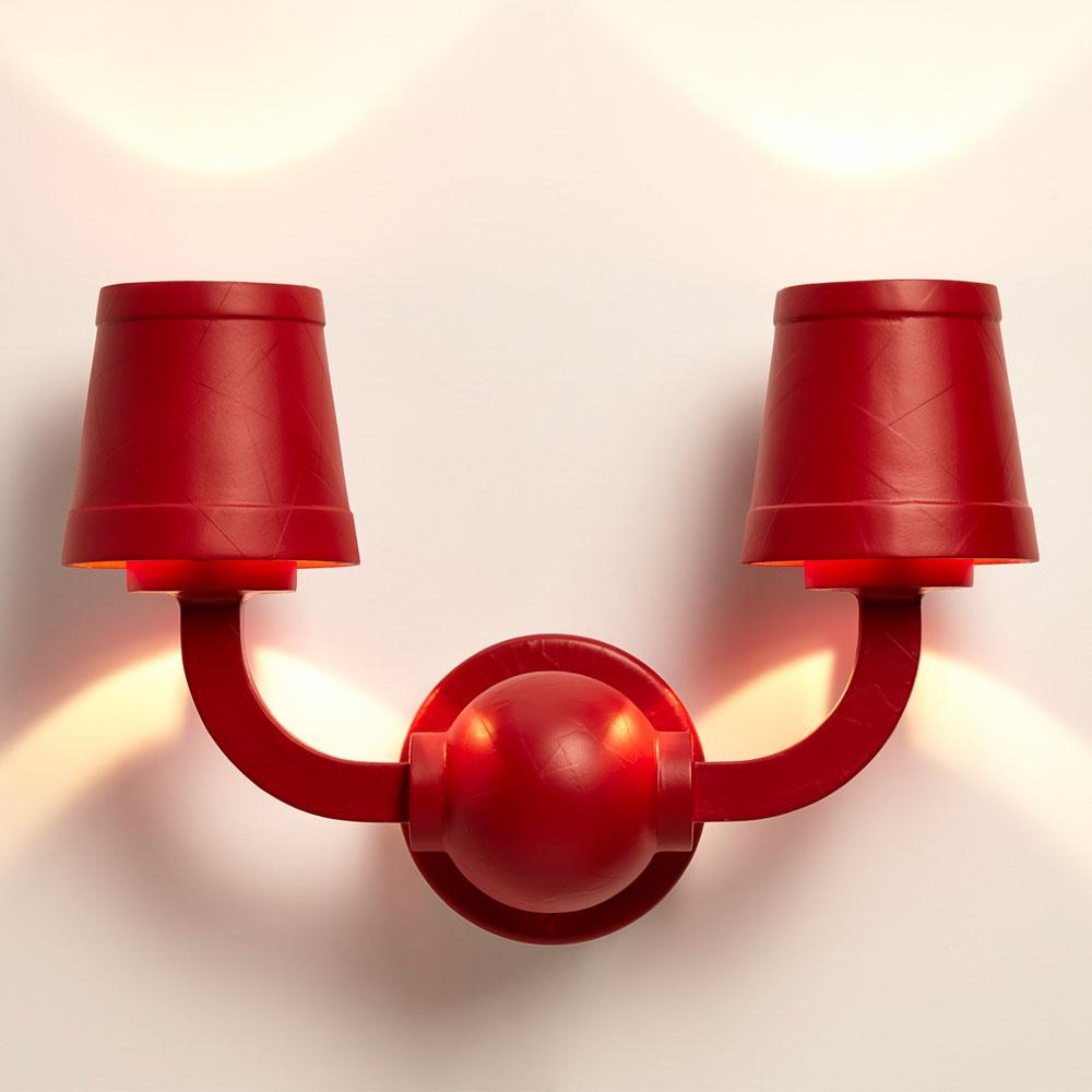 Paper Wall Lamp - RAL 3003/ rubinrot