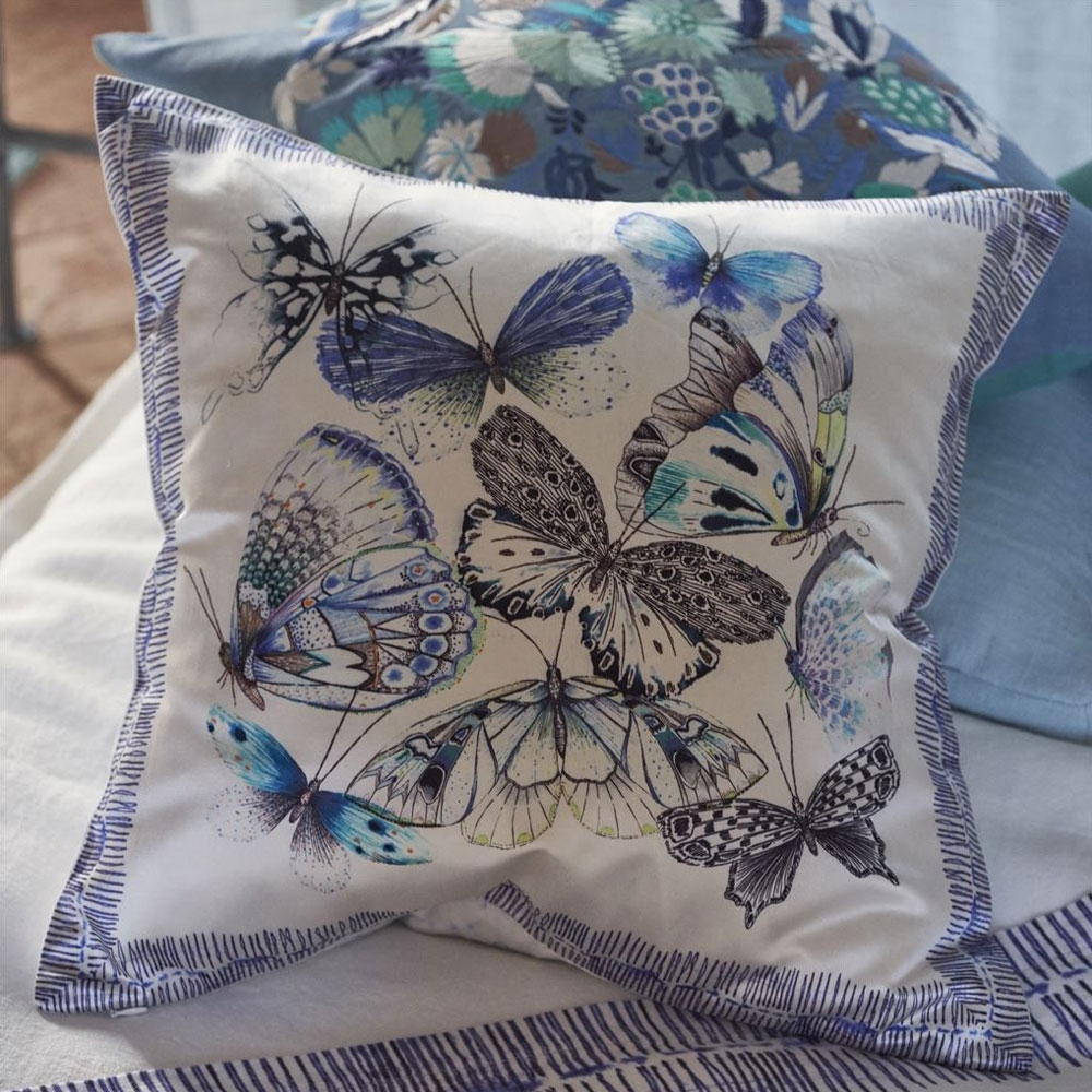 Papillons - Farbe Cobalt