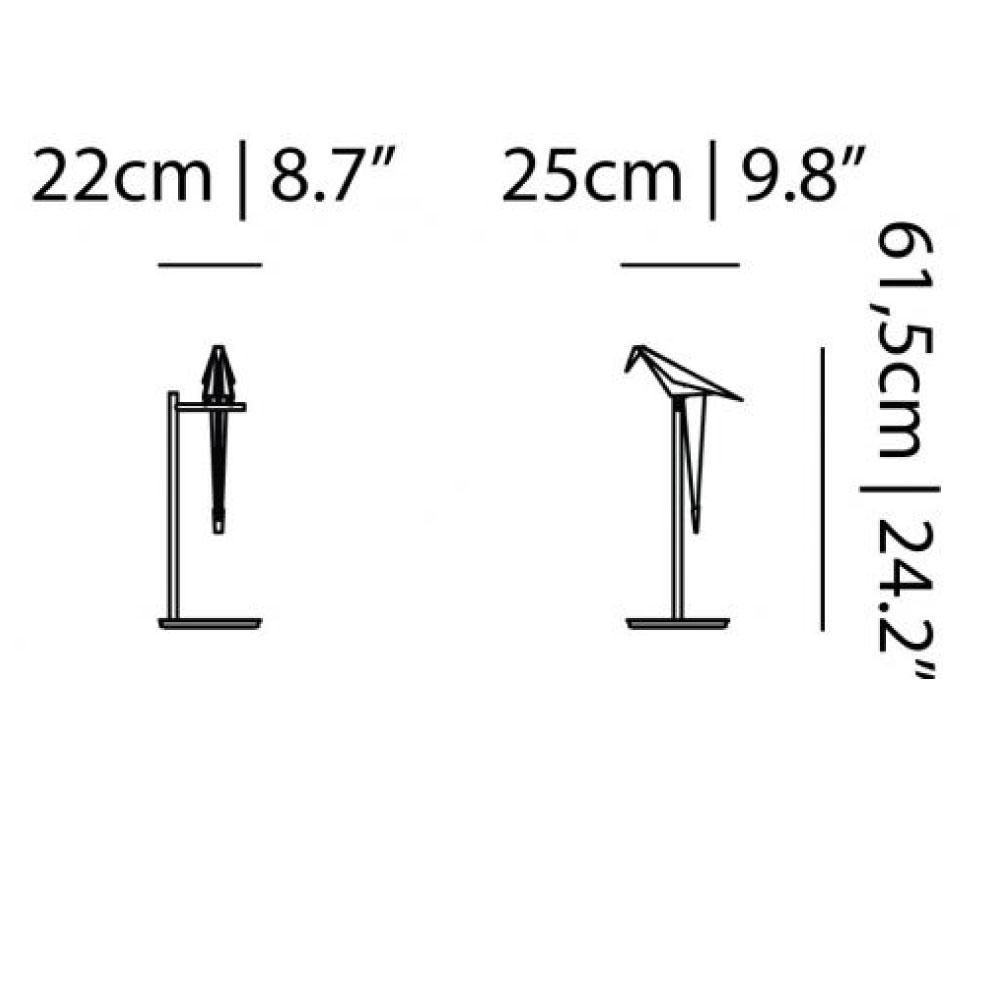 Perch Light Table - Maße