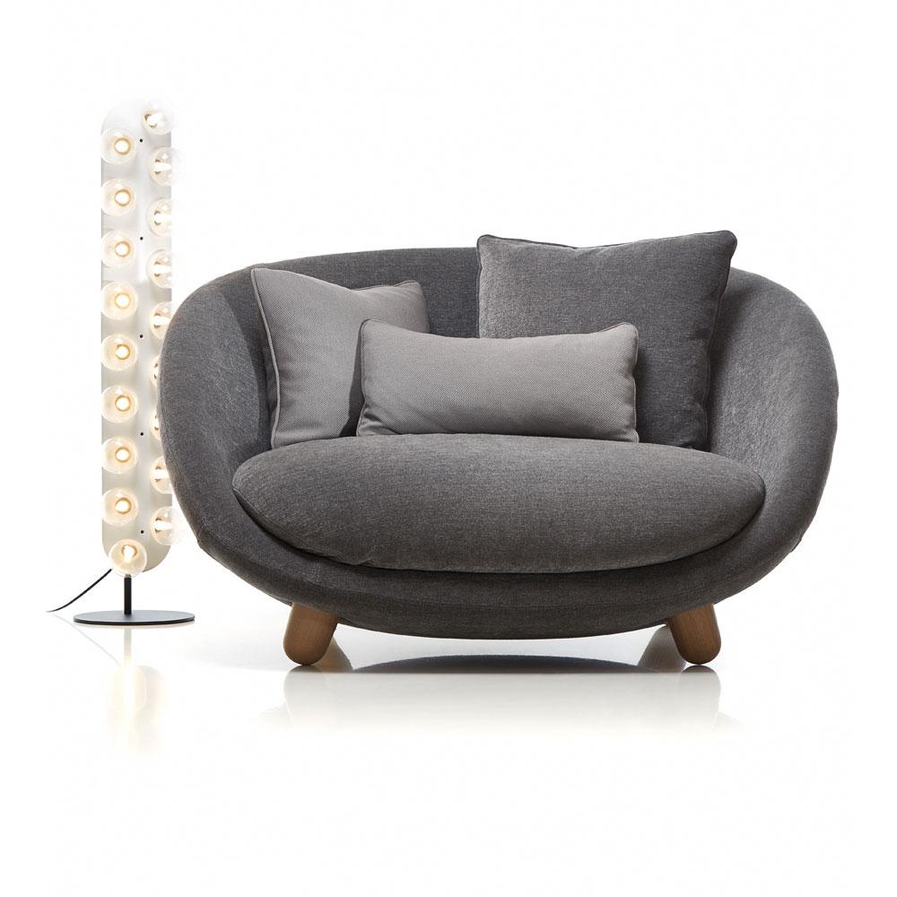 Love Sofa - Bezug Liscio - Farbe Grigio Scuro & Leuchte Prop Light