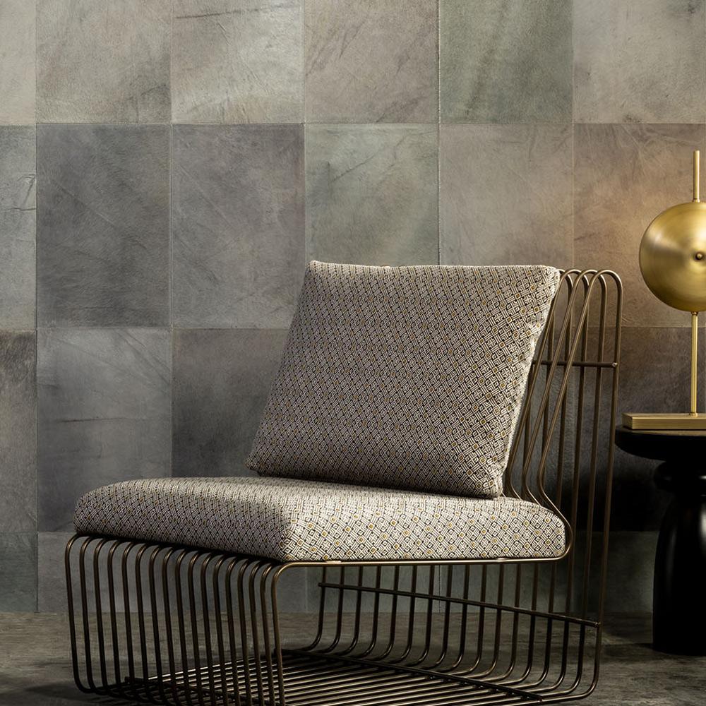 Arte - Leder-Tapete Rectangle - Farbe 33512 Linen - Raumansicht