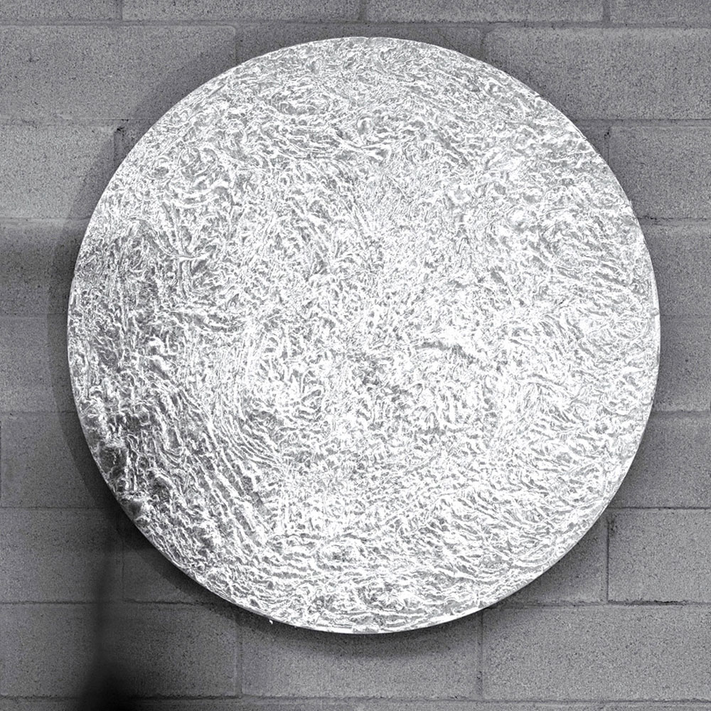 Dekorative Wandscheibe - Farbe Silber